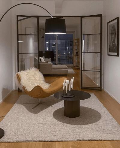 Schuifwand van glas woonkamer
